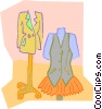 Vector Clip Art graphic  of a clothes