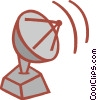Vector Clip Art image  of a radar