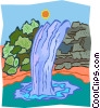 waterfall Vector Clipart illustration