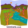 Vector Clip Art image  of a stream