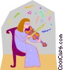 Vector Clipart illustration  of a musician