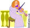 Vector Clipart graphic  of a musician