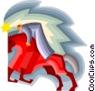 business riding horse Vector Clipart picture