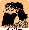 Vector Clipart graphic  of a Two Egyptian men