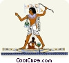Egyptian people Vector Clipart illustration