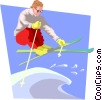 Freestyle skier Vector Clip Art graphic