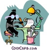 business book-keeper Vector Clip Art image