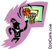 Vector Clipart graphic  of a basketball player