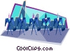 business team Vector Clip Art picture