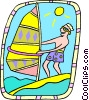 Vector Clipart picture  of a windsurfer
