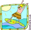 Vector Clipart illustration  of a surfer