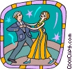 Vector Clip Art image  of a dancing couple