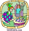 Vector Clip Art picture  of a Birthday party