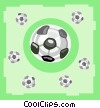soccer balls Vector Clip Art graphic