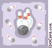 Bowling balls and pins Vector Clip Art picture