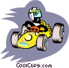 cartoon racecar Vector Clipart picture