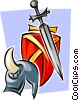 medieval weaponry Vector Clip Art graphic