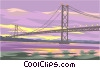 Vector Clipart illustration  of a bridge