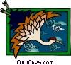 Vector Clip Art image  of a heron