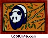 Vector Clipart image  of a panda bear
