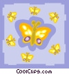 Vector Clip Art picture  of a butterfly