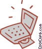 Vector Clipart graphic  of a laptop