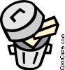 garbage can Vector Clipart picture