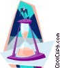 Vector Clipart image  of a hourglass running out of time