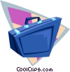 Vector Clip Art image  of a briefcase business briefcase