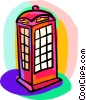 Vector Clip Art graphic  of a telephone booth