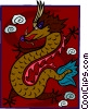 Vector Clipart illustration  of a Chinese Dragon