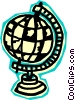 Vector Clipart picture  of a globe