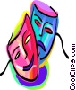 Vector Clip Art image  of a The Arts/Theatre