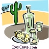 tequila with lemons Vector Clip Art picture