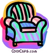 Vector Clipart graphic  of an arm chair