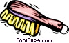 Vector Clip Art graphic  of a clothes brush