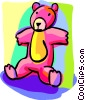 Vector Clipart graphic  of a teddy bear