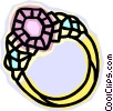Vector Clip Art graphic  of a ring