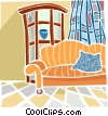 living room Vector Clipart graphic
