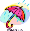 umbrella with raindrops Vector Clipart image