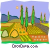 Vector Clipart graphic  of a landscape