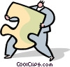 Vector Clip Art picture  of a business person carrying