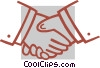 Vector Clip Art graphic  of a business handshake
