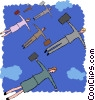 business flying Vector Clipart illustration