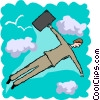 business flying Vector Clipart picture