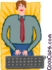 business computer user Vector Clipart image