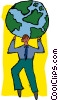 business globe carrying Vector Clip Art picture
