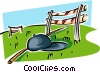 jockey hat, crop and jump Vector Clip Art picture
