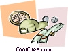 tennis equipment Vector Clipart illustration