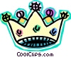 Vector Clip Art graphic  of a crown